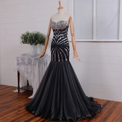 Sexy Sweetheart 2020 Mermaid Prom Dress Long With Crystals_4