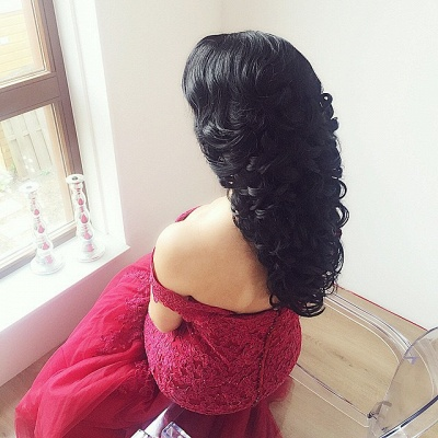 Gorgeous Off-the-Shoulder Burgundy 2020 Prom Dress Long Mermaid Lace Party Gowns BA7580_4