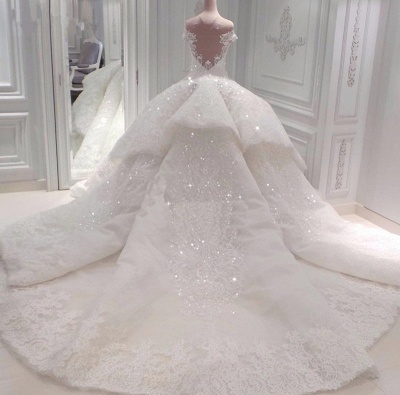 Glamorous Sweetheart Off-the-Shoulder Wedding Dress | Lace Applique 2020 Bridal Gown Online_2