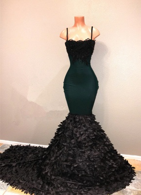 Spaghetti-straps 2020 prom dress, mermaid evening party gowns on sale BA8561_3