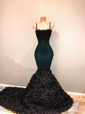 Spaghetti-straps 2020 prom dress, mermaid evening party gowns on sale BA8561_1