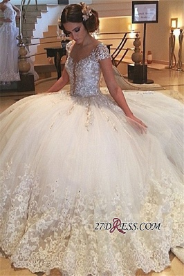 2020 Cap-Sleeves Wedding Gowns | Princess Lace Wedding Dress On Sale_2