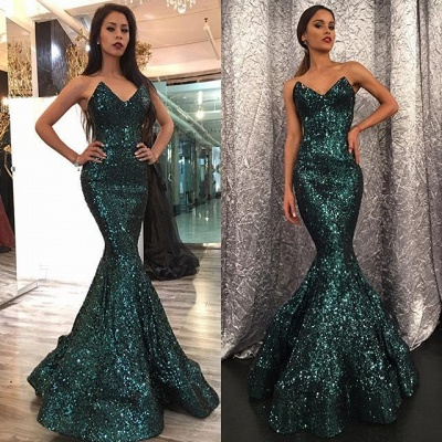 Sexy Sweetheart Mermaid 2020 Prom Dress With Sequins_4