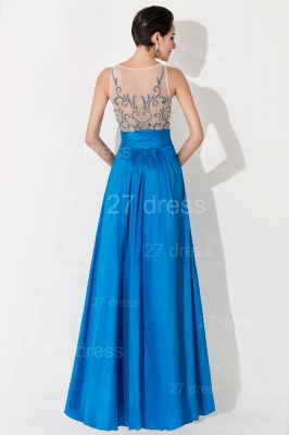 Modern Illusion A-line Evening Dress Beadings Sequins_4