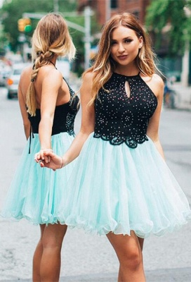 Lovely Halter Short Homecoming Dress | 2020 Tulle Party Dress_1