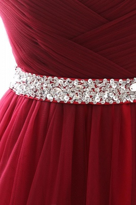 Elegant Burgundy Tulle Evening Dresses | 2020 Long Crystal Prom Gowns_11