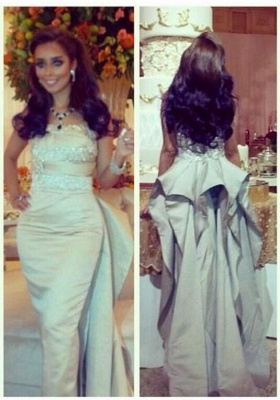Glamorous Sleeveless Mermaid Prom Dress With Ruffles Beadings_1