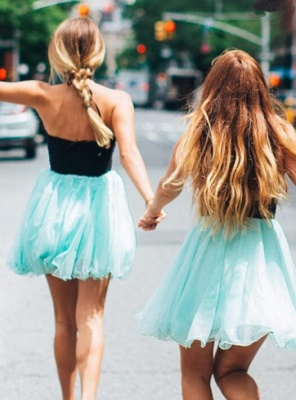 Lovely Halter Short Homecoming Dress | 2020 Tulle Party Dress_3