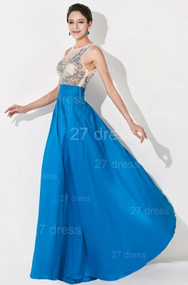 Modern Illusion A-line Evening Dress Beadings Sequins_3
