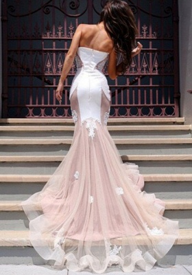 Sweetheart Lace Evening Dress with Mermaid Tulle Gorgeous_3
