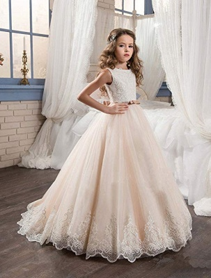 Lovely Sleeveless Lace Flower Girl Dresses | 2020 Girls Pageant Dress On Sale_4
