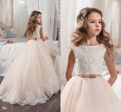 Lovely Sleeveless Lace Flower Girl Dresses | 2020 Girls Pageant Dress On Sale_3