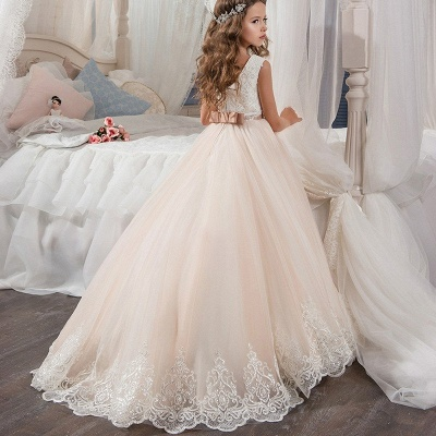 Lovely Sleeveless Lace Flower Girl Dresses | 2020 Girls Pageant Dress On Sale_2