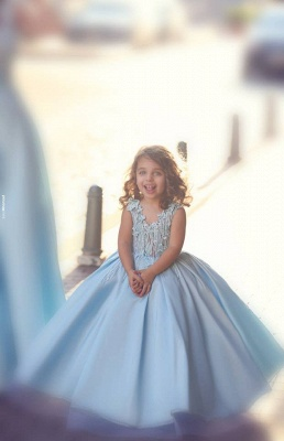 Newest Flowers Straps A-line Mother And Daughter Prom Dress 2020 Ball Gown BA4321_7