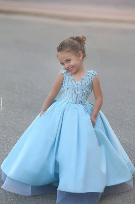 Newest Flowers Straps A-line Mother And Daughter Prom Dress 2020 Ball Gown BA4321_8