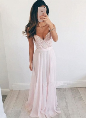 Elegant Sweetheart Lace 2020 Prom Dress Long Chiffon Party Gowns BA2665_1