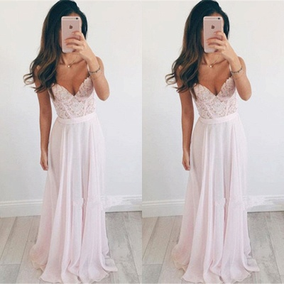 Elegant Sweetheart Lace 2020 Prom Dress Long Chiffon Party Gowns BA2665_2