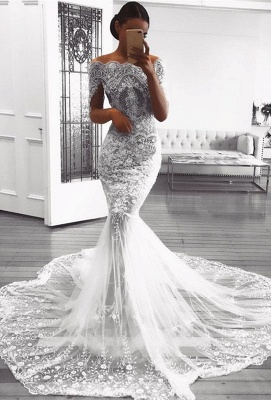 Glamorous Long Sleeve Lace Wedding Dress | 2020 Mermaid Bridal Gowns On Sale BC0823_1