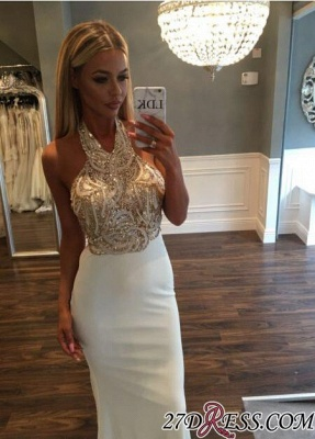 Sequined Newest Sleeveless Halter Sweep-Train Mermaid Prom Dress BA6597_2