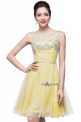 Short Crystal Sleeveless Open-Back Homecoming Dresses_2