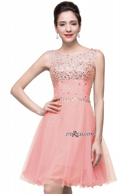 Short Crystal Sleeveless Open-Back Homecoming Dresses_4
