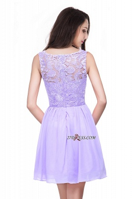 Cheap A-Line Short Lace Sleeveless Homecoming Dress_6