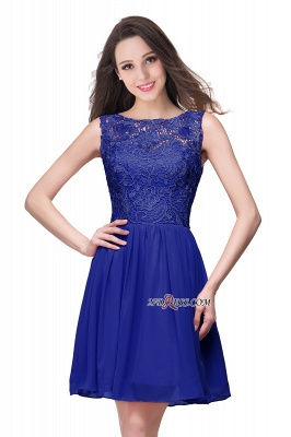 Cheap A-Line Short Lace Sleeveless Homecoming Dress_5