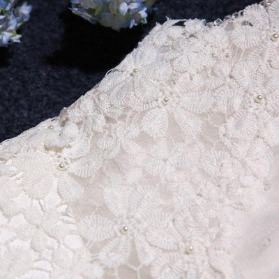 Stunning Sleeveless Scoop Wedding Dress 2020 tulle Lace Appliques_5