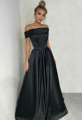Sexy Black Off-the-Shoulder Long 2020 Prom Dress Online_3