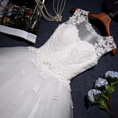 Stunning Sleeveless Scoop Wedding Dress 2020 tulle Lace Appliques_6