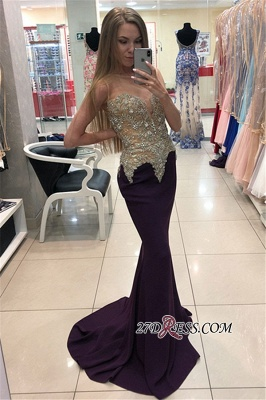 Sexy Mermaid Evening Gowns | 2020 Sleeveless Formal Dresses_1