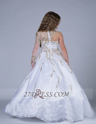 Glamorous Jewel Floor-length Girl Pageant Dress Ball Gown With Crystals_2