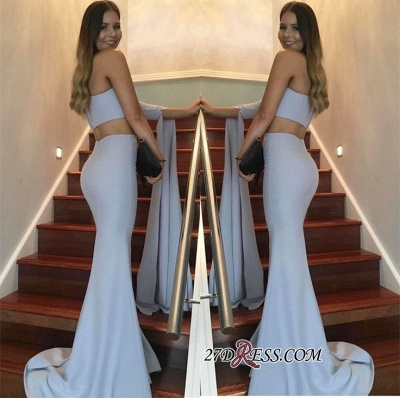 Floor-Length Mermaid Stunning Two-Pieces One-Shoulder Prom Dress_1