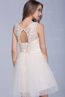 Modern Illusion Sleeveless Tulle Homecoming Dress With Lace Bowknot_3