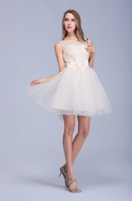 Modern Illusion Sleeveless Tulle Homecoming Dress With Lace Bowknot_1