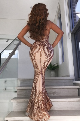 Glamorous Halter Sleeve Sequins Prom Dresses   2020 Mermaid Long Evening Gowns BC0506_2