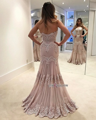 Modern 2020 prom dress, lace long evening gowns_1