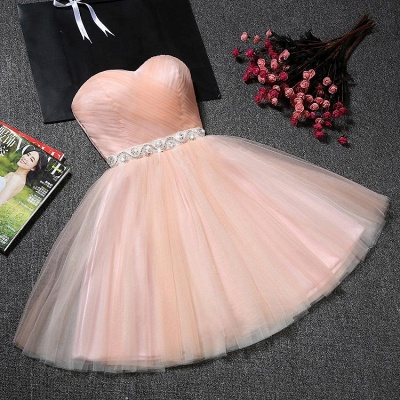 Lovely Sweetheart Prom Dress | 2020 Tulle Lace-Up Short Homecoming Dress_3