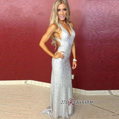 Mermaid Long Sequined Sleeveless Newest Straps Prom Dress_1