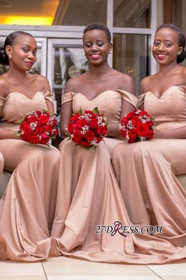 Sweetheart Off-the-Shoulder Sheath Sexy Bridesmaid Dresses_3