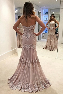 Modern 2020 prom dress, lace long evening gowns_2