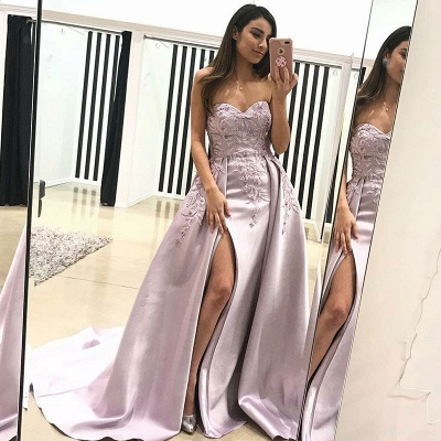 Gorgeous Sweetheart Evening Dress | 2020 Lace Appliques Prom Dress With Slit BA9853_3