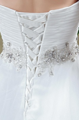 Chic White Sweetheart Beadings 2020 Wedding Dress Court Train Lace-up_5
