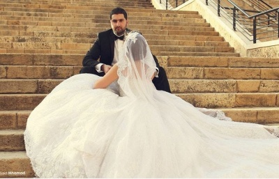 Delicate Sweetheart Lace Tulle Wedding Dress Ball Gown Beadings_6
