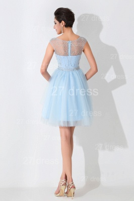 Glamorous Illusion Sleeveless Short Cocktail Dress With Crystals_4