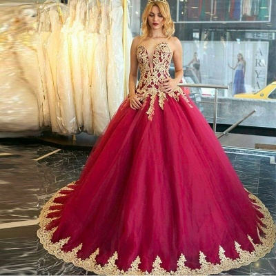 Amazing Lace Appliques 2020 Evening Dress Ball Gown Formal Wear_3
