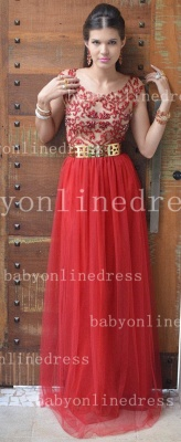 Evening Sexy Red Prom Dresses New Fashion 2020 Dresses Cap Sleeves Vestidos Female Formal Tulle Bead Dresses_1