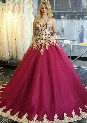 Amazing Lace Appliques 2020 Evening Dress Ball Gown Formal Wear_1