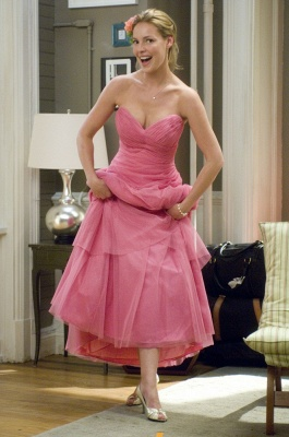Sweetheart Lovely Bridesmaid Dress on Sale Wholesale Pink Floor-length Organza Gowns_1