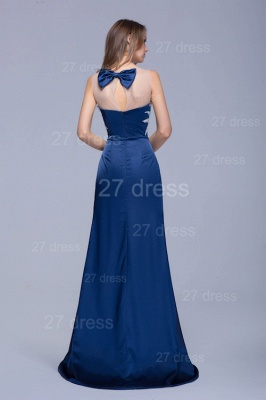 Newest Illusion Beadings Crystals Mermaid Evening Dress Floor-length_4